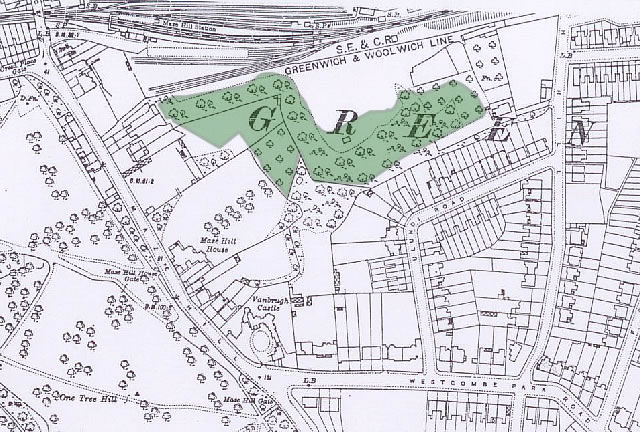 History of Westcombe Woodlands - 1916 Map