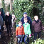 Volunteers in the area of a newly planted hedge and thicket